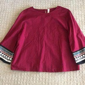 Tops - Cranberry blouse